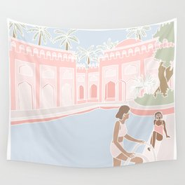 Motel Pool Wall Tapestry