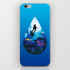 Diver of the Blue iPhone & iPod Skin