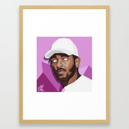 Kendrick Lamar pop art Framed Art Print