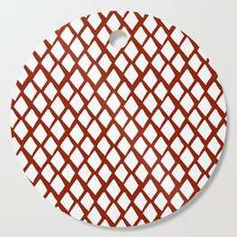 Rhombus White And Red Cutting Board