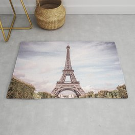Paris City Eiffel Tower Rug