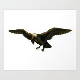 Vintage Vulture Art Print