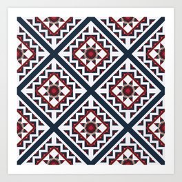 Quilted Winter Art Print