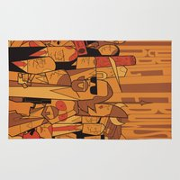 big lebowski Area & Throw Rugs featuring The Big Lebowski by Ale Giorgini
