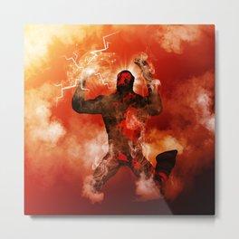 The fire man Metal Print