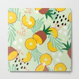 Pineapple pattern 03 Metal Print