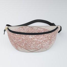 Pink Glitter Design Fanny Pack