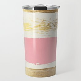 Brush Strokes (Rose/Gold) Travel Mug