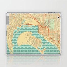 San Diego Map Retro Laptop & iPad Skin