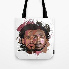 Kendrick Lamar J cole Portrait Tote Bag