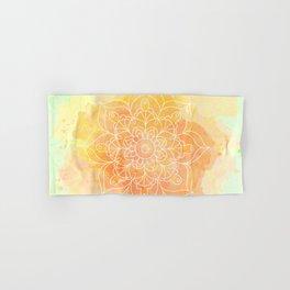 Watercolor Mandala // Sunny Floral Mandala Hand & Bath Towel
