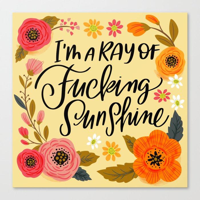 Pretty Swe*ry: I'm a Ray of Fucking Sunshine Leinwanddruck