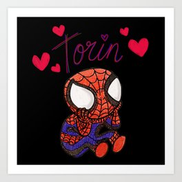 Spidey Loves Torin Art Print