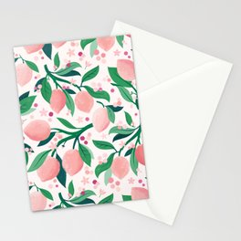 Lemon Mimosa Coral  Stationery Cards
