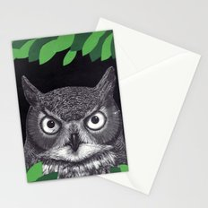 among the leaves (night) Stationery Cards