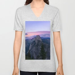 Yosemite National Park at Sunset Unisex V-Neck