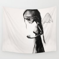 angel Wall Tapestries featuring Angel by SannArt