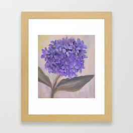 Purple Hydrangea From Original Oil Painting Framed Art Print