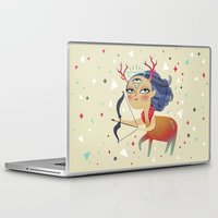sagittarius Laptop & iPad Skins featuring Sagittarius by Ana Varela