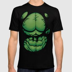 The Green Giant MEDIUM Black Mens Fitted Tee