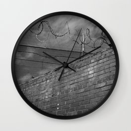 Brick and wire Wall Clock