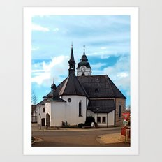 The village church of Vorderweissenbach I | architectural photography Art Print