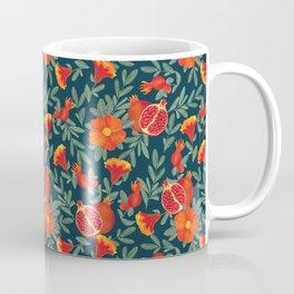 Pomegranate. Blue pattern Coffee Mug