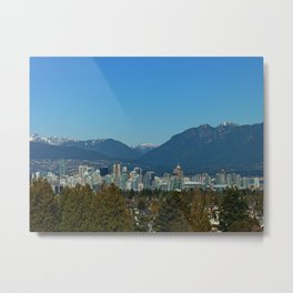 Vancouver and the North Shore Mountains Metal Print