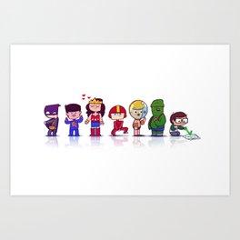Super Babies Art Print