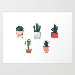 Cactus cacti Art Print