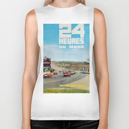 1965 Le Mans poster, Race poster, car poster, garage poster Biker Tank