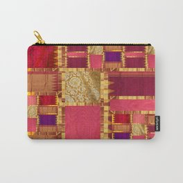 """Exotic fabric, ethnic and bohemian style, patches"" Carry-All Pouch"