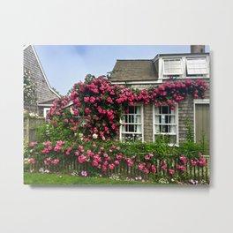 Rose House in Sconset Nantucket Metal Print