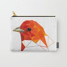 Orange Bird Geometric art Carry-All Pouch