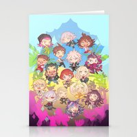 dangan ronpa Stationery Cards featuring Dangan Island by CO27