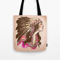 oklahoma Tote Bags featuring Oklahoma  by Hollyce Jeffriess Designs