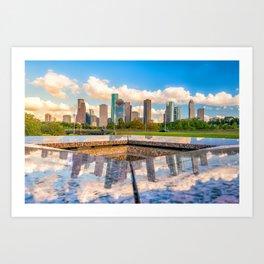 Houston 02 - USA Art Print