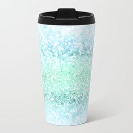 Aqua Seafoam Ocean Glitter #1 #shiny #pastel #decor #art #society6 Travel Mug