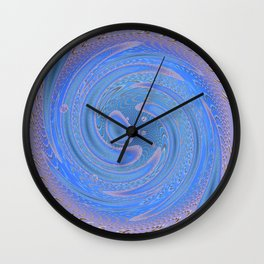 Blue Abstract Round Wall Clock