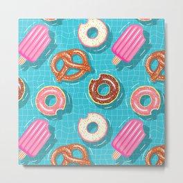 Poolparty doughnuts, pretzel,lollies Metal Print