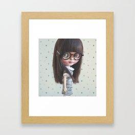 AYA CUSTOM BLYTHE DOLL BY ERREGIRO Framed Art Print
