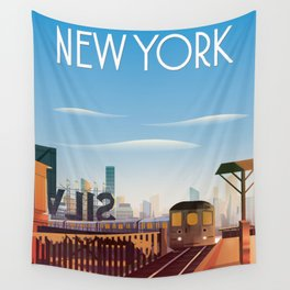 New york city poster Wall Tapestry