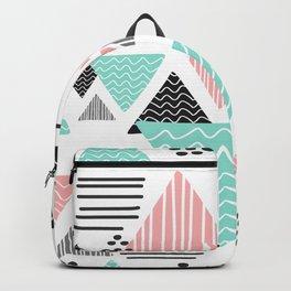 triangular geometric shape Backpack