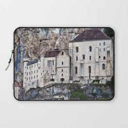 Medieval Facade of the French Castle in Rocamadour Laptop Sleeve