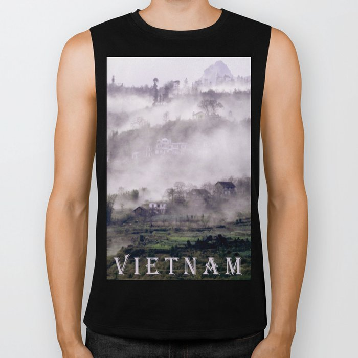 FOGGY FOREST in the VIETNAMESE MOUNTAIN Biker Tank