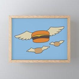 Bob's Burgers Flying Hamburger picture Framed Mini Art Print