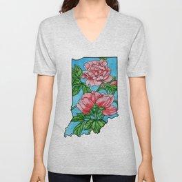 Indiana Flower Unisex V-Neck