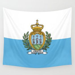 San Marino Flag Wall Tapestry
