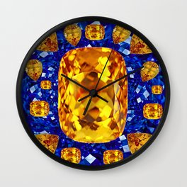 October Topaz & Blue Sapphire September Birthstone Gems Wall Clock