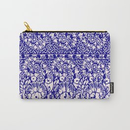 sun floral paisley in reverse violet Carry-All Pouch